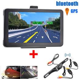Rückfahrkamera gps bluetooth online-7 Zoll 8GB HD Auto GPS-Navigation mit Nachtsicherungsrückfahrkamera FM bluetooth Karten-Navigations-LKW-Automobil-GPS-Navigatoren