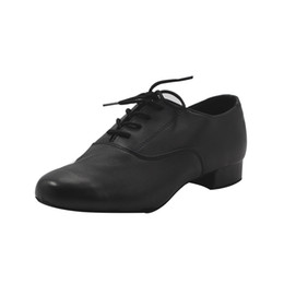 zapatos de cuero modernos Rebajas MSMAX MDM-2 Zapatos modernos de cuero para niños, niños, con cordones negros, zapatos de baile bailando talón cuadrado, Tango latino