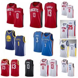 NCAA James 13 Harden Camisas De Basquete Russell 0 Westbrook Derrick 25 Rose D Angelo 1 Russell Chris 3 Homens De Faculdade Paul City City Costurado cheap basketball d rose de Fornecedores de basquete d rosa