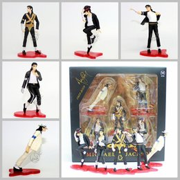 Michael jackson pvc on-line-5 Estilo / set Michael Jackson Michael Jackson mão Boneca etapa de modelagem Box PVC figura modelo coleção de bonecas Brinquedos