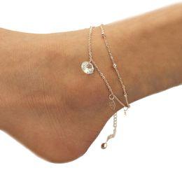 Moda Donna Rosa Sandalo Bracciale Sandalo A Piedi Nudi Spiaggia Piedi Gioielli Piede Gioielli Gamba Nuova Cavigliera Cavigliera # 4J26 da