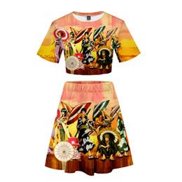 2019 affe d luffy hemd ein Stück Mode Anzüge Nabel-T-Shirt Rock für Mädchen 3D-Druck Cartoon-Muster Monkey D. Luffy Tony Chopper Cosplay rabatt affe d luffy hemd