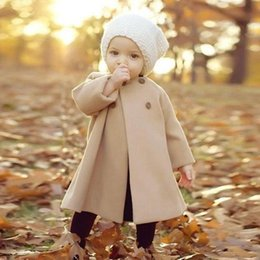 0-4T Infant Kids Baby Jackets Winter Warm Long Windproof Escudo botón para las niñas prendas de vestir exteriores Año Nuevo 2019 Navidad ropa linda desde fabricantes
