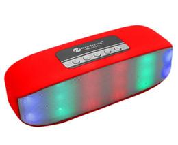 bluetooth a mené le haut-parleur d'impulsion Promotion NR-2014 Mini Wireless Bluetooth Lampe colorée Pulse LED Lumière Flash Support de haut-parleur USB Fonction TF FM VS V318 BT808L Pilule XL S10 X3 BT808NL