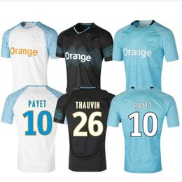 32f6a72d7 top thai 18 19 Olympique De Marseille soccer jersey 2018 2019 Marseille  maillot de foot PAYET Camisetas PAYET GOMIS THAUVIN football shirt