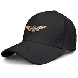 Männer armeekappen online-Womens Mens flach zusammen verstellbare Harley Davidson Wings Motorrad Logo Punk Hip-Hop Baumwolle Hysteresenhüte Sommerhüte Cadet Army Caps Bucket