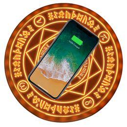 carregador de iphone em forma de maçã Desconto Universal magic círculo sem fio carregador qi sem fio rápido rápido de carregamento pad para iphone x xr xs max 8 samsung xiaomi redmi huawei honor
