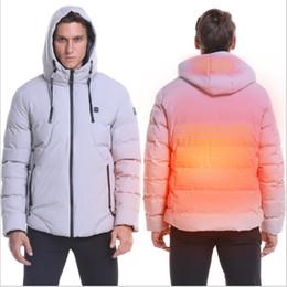 Blusa windstopper on-line-4XL USB Thermal Jacket aquecida elétrica Homens Mulheres Aquecimento Vest Outdoor Camping Caminhadas Trekking Ski Brasão impermeável Pesca