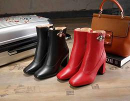 zapatos de cuero real para mujer Rebajas Botines de arranque de tobillo para mujer de moda Plataforma de cuero real de invierno Tacones altos para mujer Zapatos casuales Botines Envío gratis