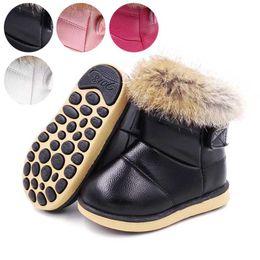 Canada Bottes de neige pour enfants Classic Kids Shoes pour l'hiver 2019 Étanche PU Garçons et filles Bottines Bottes Bébé Chaud Fourrure De Fourrure Blanc # 17 supplier crochet baby girl snow boots Offre