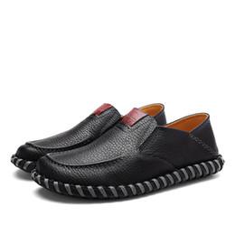 Argentina Hombre Zapatos casuales Mocasines de cuero Hombres Caminando Zapatillas de deporte Primavera Otoño Pisos Para hombre Slip On Oxford Zapatos perezosos Vintage Sandalia para hombre supplier oxford sandals Suministro