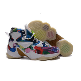 new style 39556 ebd13 Lebron 13 mens basketball shoes for sale MVP Christmas BHM Blue Easter  Halloween Akronite DB youth boots with original box Size 7 12