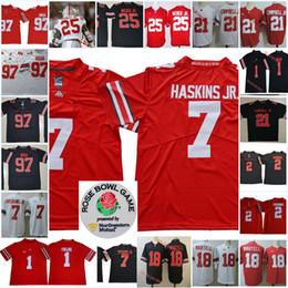2aea06ab2fd NCAA Ohio State Buckeyes Dwayne Haskins Football Jersey Joey Bosa JK.  Dobbins Ezekiel Elliott J.T Barrett Tate Martell Justin Fields Jersey