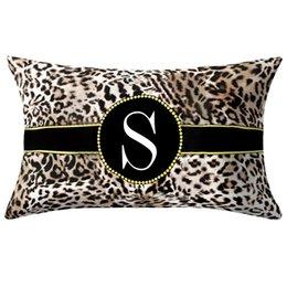 Leopard Neue Kreative Englisch Alphabet Kissen Druck Kissen Blume Kissenbezug Raum zubehör moderne Mode Kissenbezug von Fabrikanten