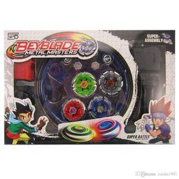 Brinquedos de beyblade grátis on-line-Frete Grátis 4 pçs / set Beyblade Arena Spinning Top Metal Luta Beyblad Beyblad Metal Fusão Crianças Presentes Brinquedos Clássicos