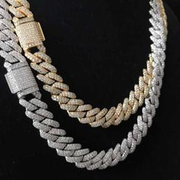 tendência de colar de corrente Desconto Congelado para fora bling bling prong cadeia de ligação cubano