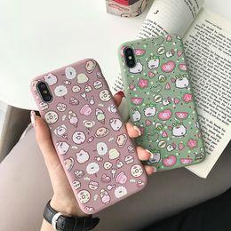 2019 celular coreano Para Iphone Xr Xs Caja del teléfono Max Matcha Estilo coreano Cerdo lindo 6 7 8 X Plus Caja de teléfono celular suave de silicona helada celular coreano baratos