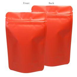2020 sacos ziplock vermelhos sacos para embalagem vermelha 10x15cm (4x6in) de selagem a quente doce saco de embalagem se levantar bolsas de folha de alumínio ziplock sacos utilizar para café sacos ziplock vermelhos barato
