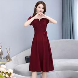 e5f8c5392 HAYBLST marca vestido de las mujeres más Size5XL verano suelto 2019 de moda  Bowknot con cordones elegante coreano Stysle ropa transpirable vestido  rebajas ...