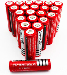 lanterna ultrafire bateria recarregável Desconto UltraFire 18650 4200mAh 3.7 V Bateria Li-ion Recarregável de Alta Capacidade LED Lanterna Câmera Digital Carregador de Bateria de Lítio