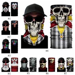 Diadema mágica online-Máscara de cabeza de motocicleta de ciclismo 3D payaso V para venganza equipo esqueleto montañismo diadema mágica multifuncional EEA513
