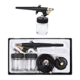 0,8мм Краскопульт Paint Аэрограф Mini Single Action Air Brush Kit Шланг Флакон-спрей для тела Инструмент Painting Art Макияж Модель Tattoo от