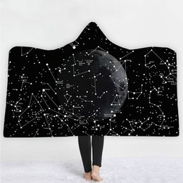 Stella blu starmer online-star universe head Coperta con cappuccio Sherpa Fleece Ocean Blue Wearable peluche Coperta coperta sul letto Divano caldo spessa