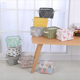 Stoccaggio dei contenitori di tessuti online-Cestino portaoggetti pieghevole in tessuto di alta qualità per desktop cestello portaoggetti ins