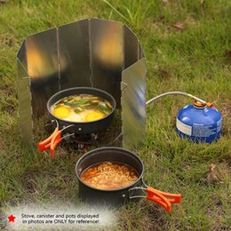 9 Outdoor Camping Cooking Cooker Gas Stove Wind Shield Screens Windshield BF