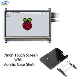 [HFSECURITY] Raspberry Pi Touchscreen capacitivo da 7 pollici Display LCD IPS USB 1024 * 600 HDMI con custodia in acrilico da 7 pollici da