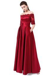 vestido de noiva de manga curta vermelho Desconto