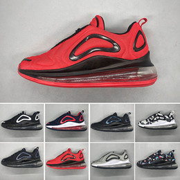 Cuenco de aire online-Nike air max 720 Niños niño y niña azul rojo negro gris zapatos deportivos de alta calidad bebé niños diseñadores de moda hombres mujeres zapatillas de deporte zapatos de bowling