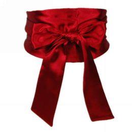 cintos de corset de moda larga Desconto 8 Super Grande Silk Fabrics espartilho Cintos de Colos Banquet Mulheres Lady Fashion Dress cinto bowknot grande Cós Roupa accesoories