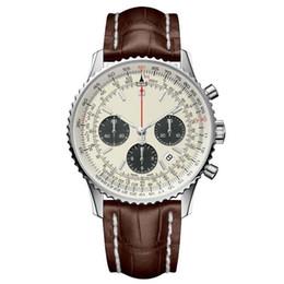 Argentina 2019 Brietling reloj de lujo para hombre relojes reloj de cuarzo famosa marca de moda de acero fino 316 reloj impermeable cheap mens luxury famous brand watch quartz Suministro