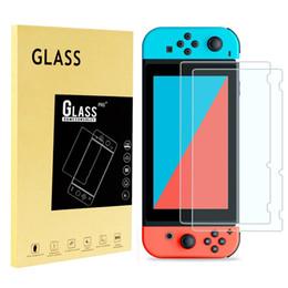Filme duro on-line-Para nintendo interruptor de vidro temperado filme ns hd nx filme de vidro jogo película protetora 2.5d 9 h duro 0.26mm limpar protetora guarda