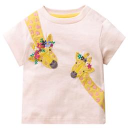 Canada Sauts Mètres Filles D'été Tops Licorne T-shirt Enfants Vêtements Animal Applique Enfants T-shirts pour Fille Vêtements Bébé Tee Shirt cheap baby meter Offre