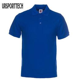 camisa поло случайная мужская Скидка Новый бренд мужской рубашки мужские хлопка с коротким рукавом поло повседневная рубашка сплошного цвета Camisa поло Masculina De Marca S-3xl C19041501