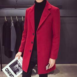 Новый тренч пальто мужчины высокое качество добавить Padding однобортный пальто мужской пальто длинный плюс размер 5xl Slim Fit траншеи мужчины от