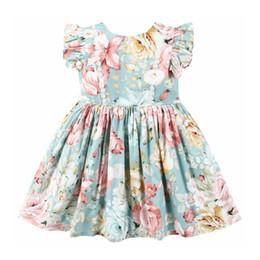amerikanisches mädchen einkaufen Rabatt Dream Cradle Europäische und amerikanische Einkaufszentrumqualität! Marke Banana Leaf Print, Baby Mädchen Kleid, Kinder tragen Y190515