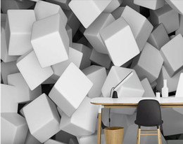 Personalizzato 3D Stereo 5d spazio solido muro di cemento Foto Wallpaper Sfondo Wallpaper Pittura murale Sala da pranzo TV murale da