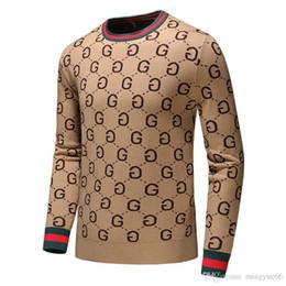 wolf pullover Rabatt 2019 neue Herbst-Mode-Marke beiläufige Strickjacke O-Ansatz kühlen Wolf Gestreiftes Slim Fit Knitting Männer Pullover und Pullover Männer Pullover Männer D42