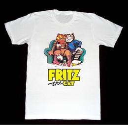 logotipos de filmes Desconto FRITZ O CAT logotipo Tshirt Filme Animado Bakshi