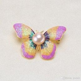 accessoires abrasifs Promotion Broche en perle Broche abrasive pour papillon abrasif Bijoux de bricolage Accessoires de gros Prix de gros pour les femmes ou les enfants à titre de cadeaux dans les anniversaires
