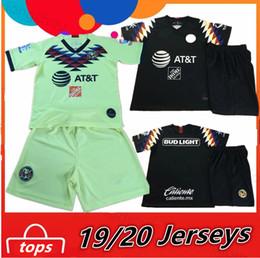 новые рубашки для мальчиков Скидка America Club New 2019 2020 детский комплект Дома в гостях O.PERALTA MATEUS MARTINEZ Футбол Джерси 19 20 Лига MX Америка парни Футбол