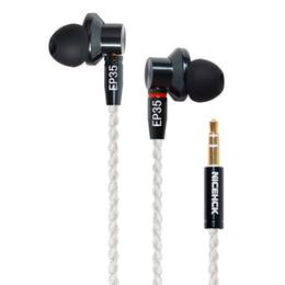 Canada ICEHCK EP35 écouteurs dans l'oreille simple lecteur dynamique HIFI métal haute résolution moniteur casque casque câble MMCX détachable vers E700M NICEHCK EP ... cheap single ear headsets Offre