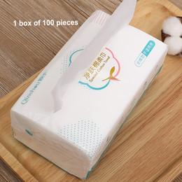 toalla diadema arco Rebajas 100pcs / paquete neto de la armadura de algodón Toalla desechable Lavarse la cara del cojín extraíble de tejido de maquillaje cosmético herramienta del removedor de tela húmedo seco Wip FY6045