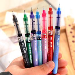 canetas finas de gel Desconto 7 Pcs 7 Cor 0.38mm Fine Point Gel Caneta De Tinta De Cor Rollerball Escritório de Negócios Caneta de Presente de Negócios