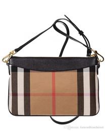Сумки дизайнерские плед онлайн-19New женская сумка мода плед высокое качество холст клатч небольшой кроссбоди сумки роскошные сумки марка дамы дизайнер сумка