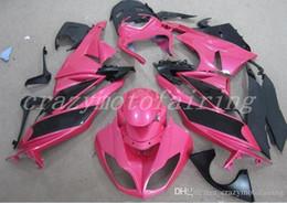 Carenados de motocicleta ABS nuevos de alta calidad aptos para kawasaki Ninja ZX6R 636 2009 2010 2011 2012 ZX6R 09 10 11 12 juego de carrocería personalizado rosa negro desde fabricantes