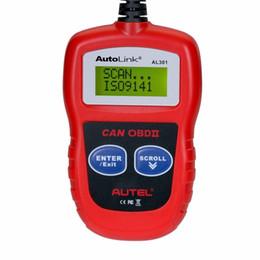 2019 считыватель autel Autel AutoLink AL301 Автоматический диагностический сканер OBDII / CAN Code Reader As AL319 диагностический инструмент Сканер OBD2 OBDII Code Reader скидка считыватель autel